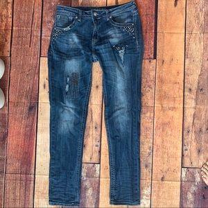 Grace Distressed Skinny Jeans Sz 32 Waist (Px)